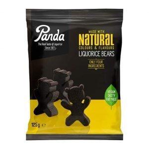 Panda Bear Shaped Liquorice Pieces 125g